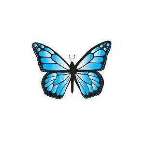 Aplique Borboleta Papel Arroz Azul Mod.1 - Rizzo Confeitaria