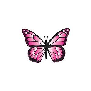 Aplique Borboleta Papel Arroz Rosa Mod.1 - Rizzo Confeitaria