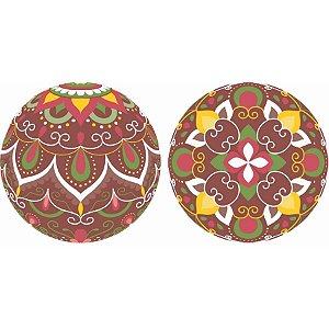 Blister Decorado com Transfer para Chocolate Bola de Natal 7cm BLN0075 Stalden Rizzo Confeitaria