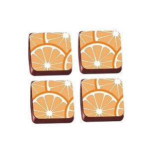 Transfer para Chocolate Laranja - TRG 8102 04 - Stalden - Rizzo Confeitaria