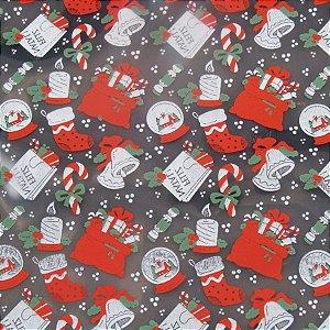Transfer para Chocolate Natal - TRN 8014 01 - Stalden - Rizzo Confeitaria
