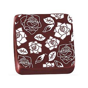 Transfer para Chocolate Rosas - TRG 8071 01 - Stalden - Rizzo Confeitaria
