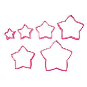 Cortadores de Estrela - 6 pçs - Cod.GMEZN1005 - Prime Chef - Rizzo Confeitaria