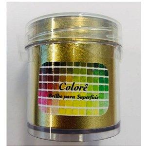 Pó para Decoração, Brilho para Superficie Colorê Dourado 20g LullyCandy Rizzo Confeitaria