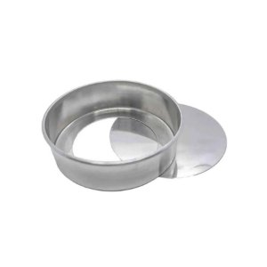 Forma Redonda Reta Fundo falso de alumínio - 1 un - 25x10 cm - GoldPan Formas