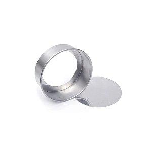 Forma Redonda Reta Fundo falso de alumínio - 1 un - 23x10 cm - GoldPan Formas