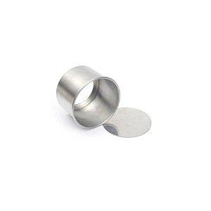 Forma Redonda Reta Fundo falso de alumínio - 1 un - 10x10 cm - GoldPan Formas