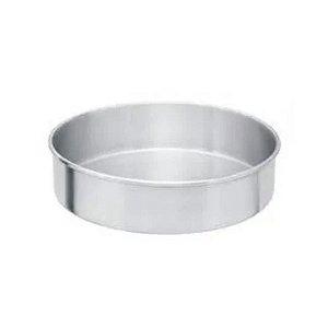 Forma Redonda Reta Fundo fixo de alumínio - 1 un - 30x10 cm - GoldPan Formas