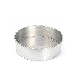 Forma Redonda Reta Fundo fixo de alumínio - 1 un - 27x10 cm - GoldPan Formas