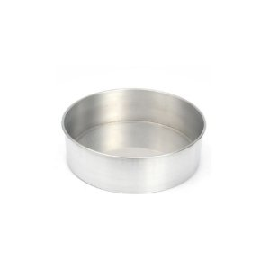 Forma Redonda Reta Fundo fixo de alumínio - 1 un - 25x10 cm - GoldPan Formas