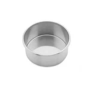 Forma Redonda Reta Fundo fixo de alumínio - 1 un - 20x10 cm - GoldPan Formas