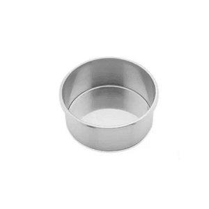 Forma Redonda Reta Fundo fixo de alumínio - 1 un - 17x10 cm - GoldPan Formas