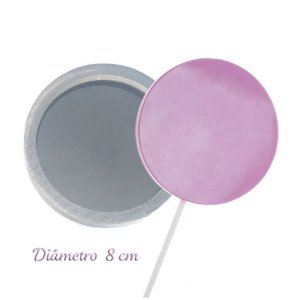 Molde de Silicone Pirulito Gd 8cm Ref. 157 Flexarte Rizzo Confeitaria