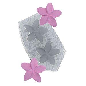 Molde de Silicone Par de florzinhas catavento Ref. 417 Flexarte Rizzo Confeitaria