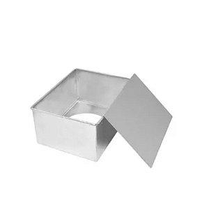 Forma Retangular fundo falso 20x15x10-  Doupan - Rizzo Confeitaria