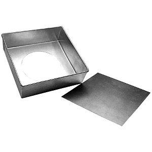 Forma Quadrada fundo falso - 30 X 10 - Doupan - Rizzo Confeitaria