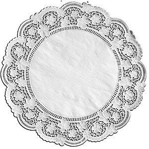 Toalhas Rendadas de Papel Mod. 380 Branca Mago Rizzo Confeitaria