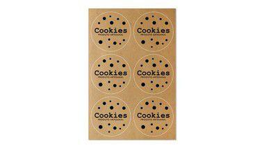 Etiquetas Artesanais - Cookies Produto Artesanal  - 4cm - 12 unidades - Rizzo Confeitaria