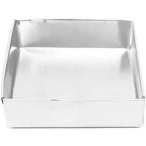 Forma Quadrada  Fundo fixo de alumínio - 1 un - 35x10 cm - GoldPan Formas
