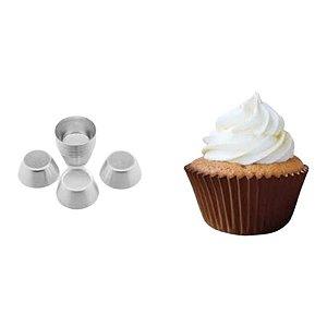 Forminha Mini Cupcake de alumínio - 12 un - GoldPan Formas