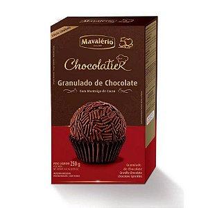 Granulado de chocolate com manteiga de cacau - 250g - Malavério