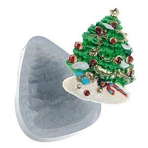 Molde de Silicone Árvore de Natal c/ Bolinhas Ref. 17 Flexarte Rizzo Confeitaria