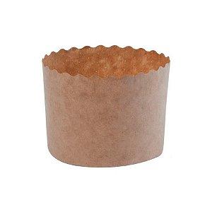 Forma para Mini Panetone Kraft 100 g com 12 un. Ecopack Rizzo Confeitaria