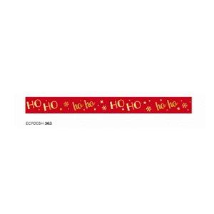 Fita de Natal em Cetim Vermelha Ho Ho ECF003H 363- 15mm x 10m - Progresso