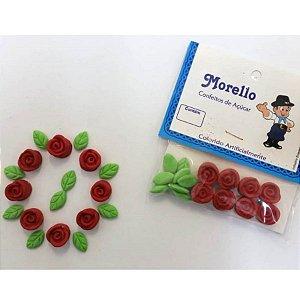 Flor Pequena Vermelha - Morello - Rizzo Confeitaria