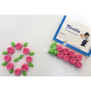 Flor Botão Rosa - Morello - Rizzo Confeitaria