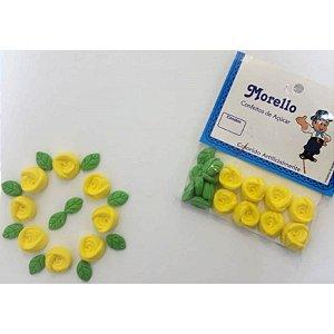 Flor Botão Amarelo - Morello - Rizzo Confeitaria