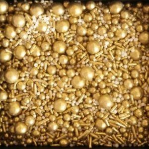 Sprinkles Gold (Ouro) 60g - Morello - Rizzo Confeitaria