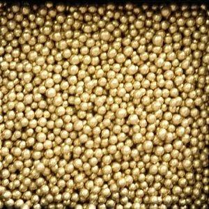 Perola Pequena Dourada 60g - Morello - Rizzo Confeitaria