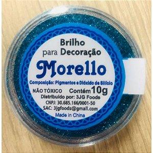 Pó para Decoração - Brilho Turquesa - Morello - 10g - Rizzo Confeitaria