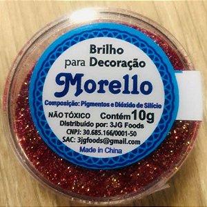 Pó para Decoração - Brilho Marsala - Morello - 10g - Rizzo Confeitaria