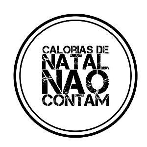 Carimbo Artesanal Calorias de Natal não Contam - Cod.RI-054 - Rizzo Confeitaria