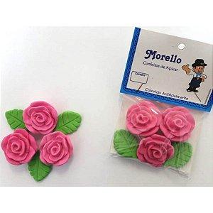 Flor Grande Rosa - Morello - Rizzo Confeitaria