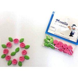 Flor Pequena Rosa - Morello - Rizzo Confeitaria