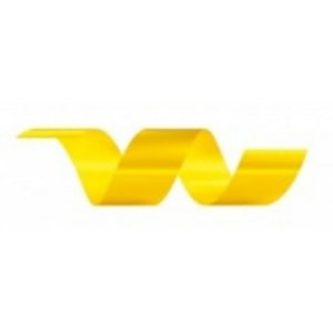 Rolo Fita Lisa Amarelo - 30mm x 50m - EmFesta