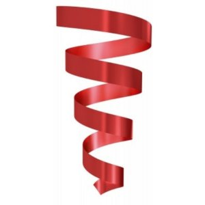 Rolo Fitilho Vermelho Claro - 5mm x 50m - EmFesta