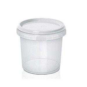 Pote com Lacre Redondo 220ml -  WS Plásticos Rizzo Confeitaria