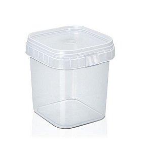 Pote com Lacre Quadrado 220ml - WS Plásticos - Rizzo Confeitaria