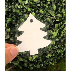 Tag Árvore de Natal Branca 10un - Rizzo Confeitaria