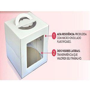 Caixa para Bolo com Visor 32,5 X 40 cm Ultrafest Rizzo Confeitaria