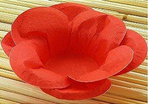 Forminha para Doces Floral Leka  Colorset Vermelho - 40 unidades - Decorart