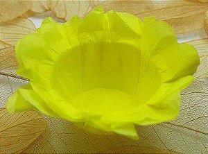 Forminha para Doces Floral em Seda Amarelo Claro - 40 unidades - Decorart