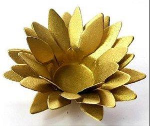 Forminha para Doces Floral Lee Colorset Dourado - 40 unidades - Decorart