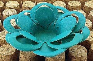 Forminha para Doces Floral Loá Colorset Azul Turquesa- 40 unidades - Decorart