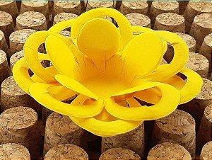 Forminha para Doces Floral Loá Colorset Amarelo Ouro - 40 unidades - Decorart