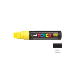 Caneta Posca PC17K 15mm Amarelo - 01 unidade - Uni Posca